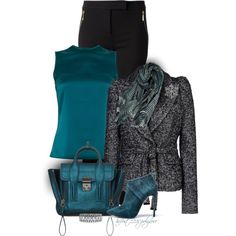 """* Philip Lim Turquoise Bag *"" by hrfost1210 on Polyvore"