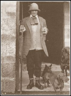 Coco Chanel in the 1920's at Rosehall House in Sutherland, Scotland, owned by her lover Hugh Richard Arthur Grosvenor, the 2nd Duke of Westminster