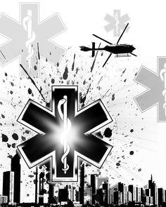 Abstract Digital Art - Star of Life by Melissa Smith Iphone Wallpaper King, Tactical Medic, Glow Stars, Skyline Painting, Paper Vase, Mixed Media Artwork, Urban Art, All Art, Fine Art America