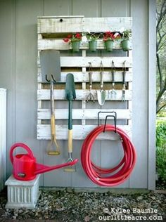 Garage or shed storage from your wood pallet!