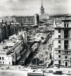 Строительство Нового Арбата.