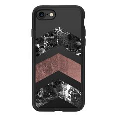 Modern black white pink faux gold chevron marble - iPhone 7 Case And... ($40) ❤ liked on Polyvore featuring accessories, tech accessories, phone, iphone case, apple iphone case, pink iphone case, iphone cover case, gold iphone case and clear iphone case