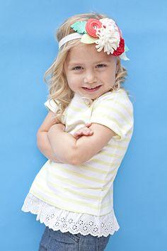Make this adorable felt flower headband for your flower girl!!