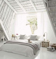 total white bedroom! #PintoWin #Anthropologie