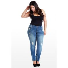 Fade In Fade Out Skinny Jeans