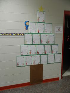Awesome in 1st and 5th! Santa Letter Christmas Tree Display