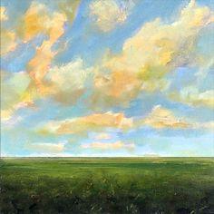 Original Oil Painting Custom Modern Abstract Sky Cloud Field LANDSCAPE ART by J Shears. $200.00, via Etsy.