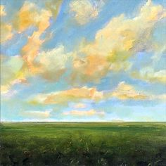 Original Oil Painting Custom Modern Abstract Sky Cloud Field LANDSCAPE ART by J Shears  http://www.etsy.com/listing/101016467/original-oil-painting-custom-modern