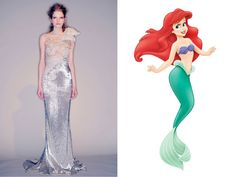 Ariel, The Little Mermaid - Photo: (from left) Marcio Madeira / FirstView.com; Photo: Courtesy of Walt Disney Pictures