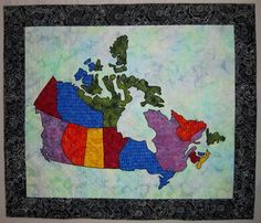 Looking for your next project? You're going to love Canada Patchwork Map Quilt by designer Elena McDowell.