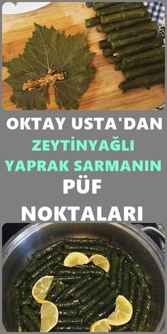 Oktay Usta Blatt Wrap Rezept mit Olivenöl – Muhteşem Tarifler – Sulu yemek – The Most Practical and Easy Recipes Turkish Kitchen, Iftar, Turkish Recipes, Food Labels, No Cook Meals, Bon Appetit, Food And Drink, Cooking Recipes, Yummy Food