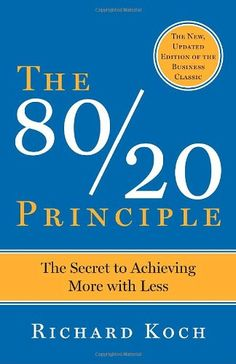 The 80/20 Principle: The Secret to Achieving More with Less by Richard Koch,http://www.amazon.com/dp/0385491743/ref=cm_sw_r_pi_dp_BO0jtb1NBDM05A54
