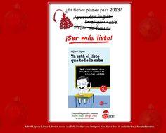 """Felicitación de Navidad de  """"Ya está el listo que todo lo sabe"""" & Léeme Libros"""