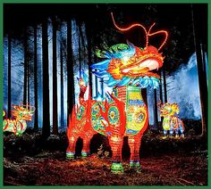 Elaborate lantern sculptures cover the zoo grounds in dragons, pandas, and other animals as part of the festival celebrating Chinese culture African Penguin, African Elephant, Okapi, Lantern Festival, Florida Panthers, Chinese Culture, Singles Day, Places Around The World, Installation Art