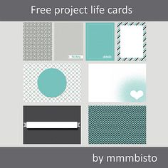 Project Life cards, free download from mmmbisto