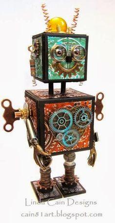 ATB Embossed Metal (Steampunk) Robot