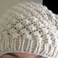 "The first thing I thought when I saw pictures of the Trinity Stitch Beret was ""Ooooh, that's lovely! Knitting Designs, Knitting Patterns, Crochet Patterns, Crochet Baby, Free Crochet, Knit Crochet, Lace Knitting, Knitting Stitches, Knitted Baby Blankets"