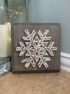 Snowflake String Art by 19Crafts on Etsy