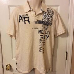 American Rag mens Large Cotton Pullover embellished shirt #AmericanRagCie #PoloRugby