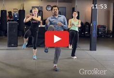 This one will put a smile on your face. https://greatist.com/move/kickboxing-workout-thats-actually-fun