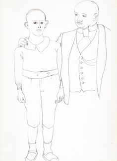 Sohn und Vater, Father and son, drawing