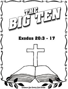 10 commandments coloring pages big ten marstopeka mcoloring