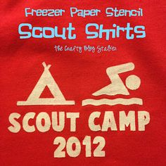 Freezer Paper Stencil DIY Scout Shirts  Easy way to make multiples of the same shirt