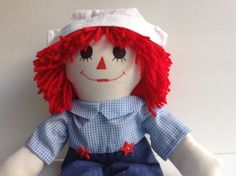 Raggedy Andy Doll Handmade 20 by theyellowroses on Etsy