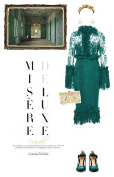 """""""Wambli Misere Deluxe"""" by wambliwakan ❤ liked on Polyvore featuring Costarellos, Gianvito Rossi, Dolce&Gabbana, Kenneth Jay Lane, women's clothing, women, female, woman, misses and juniors"""
