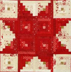 Tutorial U003d Star Log Cabin Quilt By Marlene Biles For Moda Bakeshop,  Featured At Quilt Inspiration: Free Pattern Day : Christmas Part 3