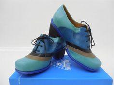 RARE-COLOR-Women-039-s-John-Fluevog-Hopefuls-Vow-Rounded-Toe-Lace-Up-Heels-Turquoise