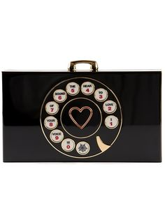 'Dial Pandora' clutch by CHARLOTTE OLYMPIA