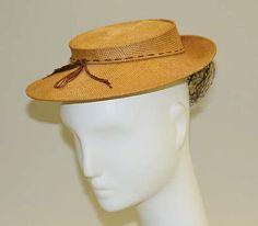 John Frederics | Hat | American | The Met 1939-40 straw