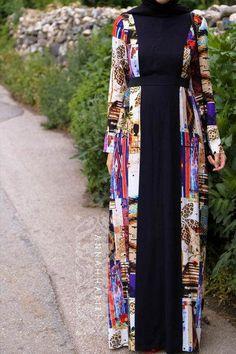 Kami Dress – cotton maxi dress so hijab friendly. Islamic Fashion, Muslim Fashion, Modest Fashion, Fashion Dresses, Fashion Styles, Hijab Fashionista, How To Wear Hijab, Hijab Look, Hijab Fashion Inspiration