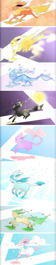 Majestic Eeveelutions #Pokemon #Eeveelutions