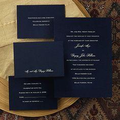 Navy Blue Wedding Invitations   ... blue invitation the invitation card features…