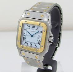 CARTIER Santos Galbee W20058C4 Stainless Steel 18k Gold Automatic Unisex Watch G