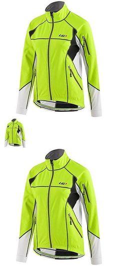 Jackets 36124: Louis Garneau Waterproof Enerblock Cycling Jacket Women Large Size Bright Yellow -> BUY IT NOW ONLY: $34.88 on eBay!