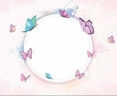 Ramadan Decorations, Borders And Frames, Hobby, Classroom Decor, Framed Art, Free Printables, Journaling, Banner, Baby Kids Flower Background Wallpaper, Framed Wallpaper, Butterfly Wallpaper, Butterfly Art, Flower Backgrounds, Pink Wallpaper, Butterfly Birthday, Borders For Paper, Borders And Frames