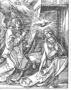 The Annunciation, Wood by Albrecht Durer (1471-1528, Italy)