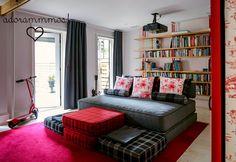 Desejo do dia: uma sala de TV dessas, aconchegante e extremamente confortável!