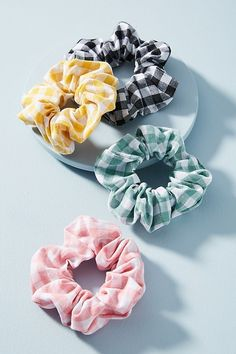 Sophie Gingham Hair Tie Set