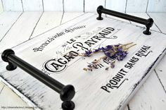 Dreams Factory: Handmade tray with French graphic from The Graphics Fairy