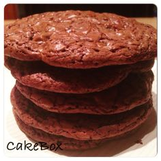 Chocolate cookies, free from gluten