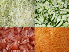 Salată foarte gustoasă pentru iarnă - adunați toate vitaminele verii într-un singur borcan! - Bucatarul Cabbage, Grains, Rice, Vegetables, Food, Canning, Salads, Vegetable Recipes, Eten