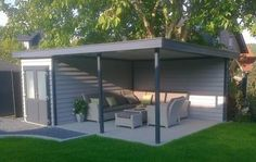 Pergola For Sale Lowes Backyard Storage Sheds, Backyard Sheds, Backyard Patio Designs, Backyard Landscaping, Small Pool Houses, Outdoor Fireplace Designs, Garden Buildings, Outdoor Rooms, Gazebo