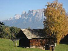 Blick auf dem Schlern von Ritten in Südtirol