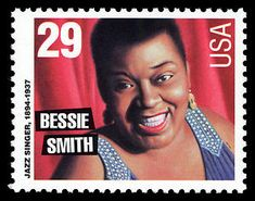 """The Empress of the Blues,"" Bessie Smith, one of the greatest jazz singers of the and and a major influence on other vocalists of the jazz era. Bessie Smith, Commemorative Stamps, Postage Stamp Art, Muddy Waters, Black History Facts, African Diaspora, African American History, Stamp Collecting, Black Girl Magic"
