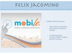 Mobile Learning: Tony Vincent & Felix Jacomino 04/04 by Techchef4u | Blog Talk Radio