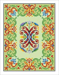 Vintage Birds Parrots Border Motif Tapestry by MyTreasureIsland, $6.00